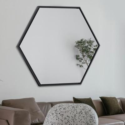 Modern/Fashion Wood Hexagon Hanging Mirror Walkway/Bathroom