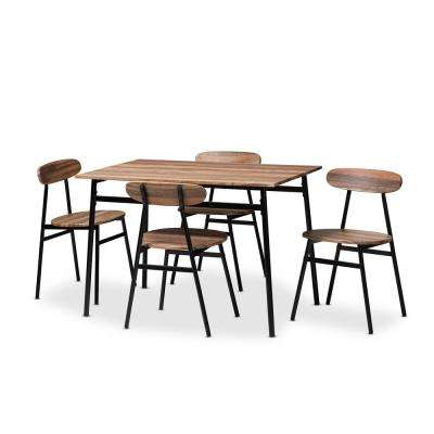 Darcia 5-Piece Light Brown Dining Set