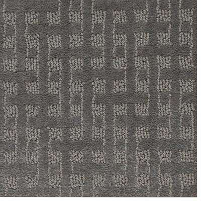Carpet Sample - Woodruff - Color Night Shade Pattern 8 in. x 8 in.