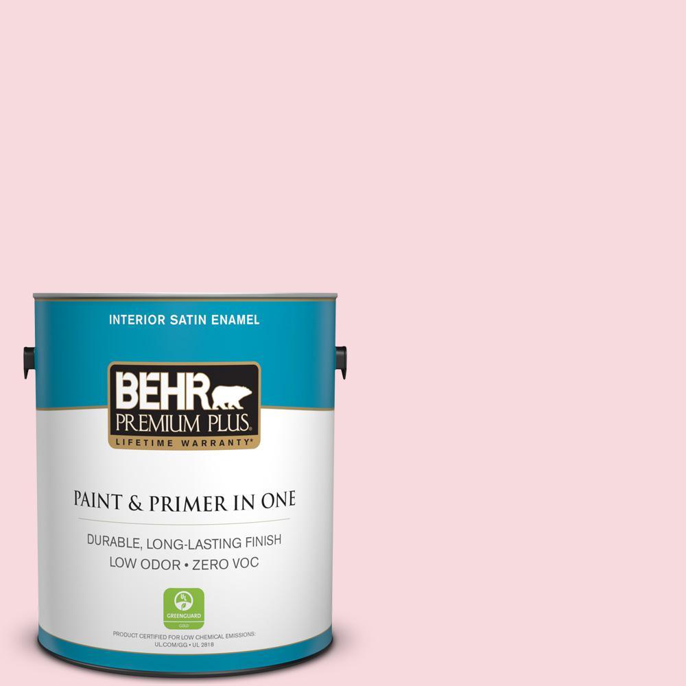 1 gal. #130C-1 Powdered Blush Satin Enamel Zero VOC Interior Paint