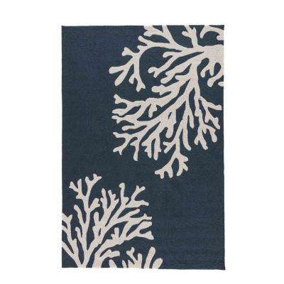 Blue Nights 9 ft. x 12 ft. Abstract Indoor/Outdoor Area Rug