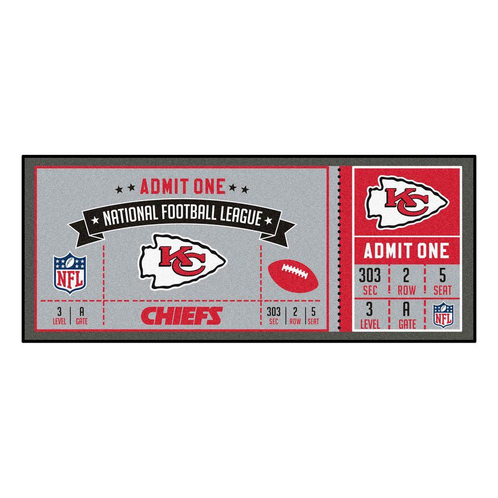 NFL - Kansas City Chiefs 30 in. x 72 in. Indoor Ticket Runner Rug