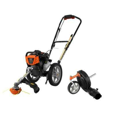 43cc Wheeled String Trimmer Mower with Blower Attachment Combo Kit