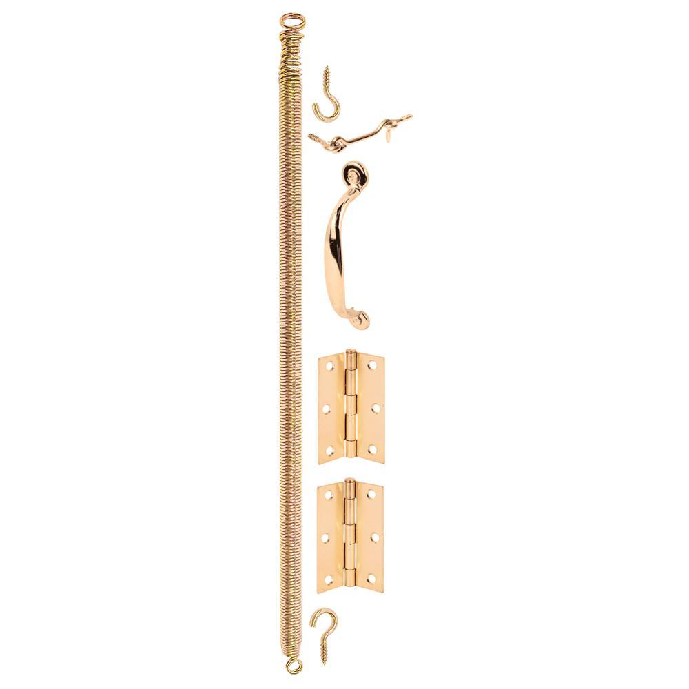 Prime-Line 7-Piece Wood Screen Door Hanging Kit