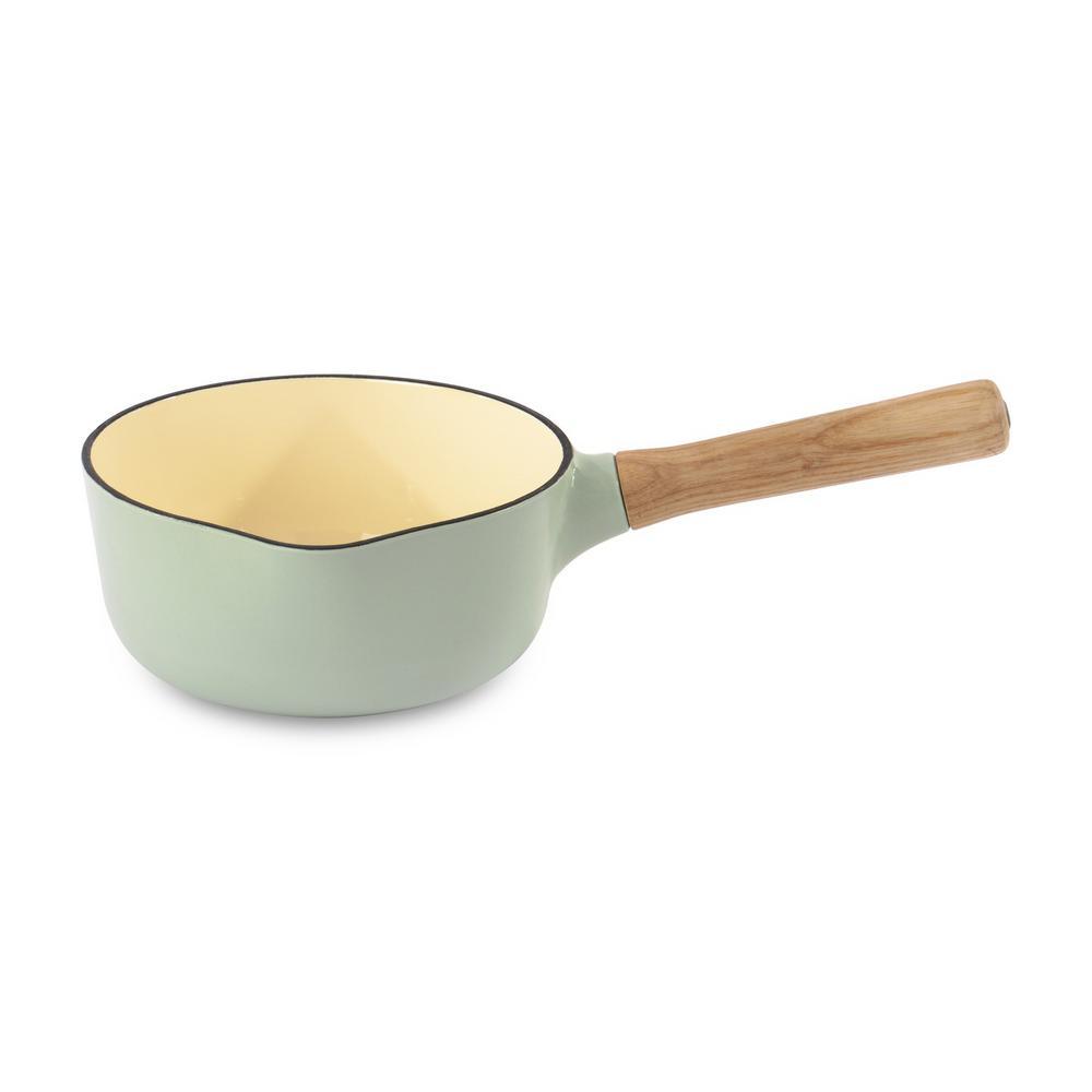Ron 1.8 Qt. Green Cast Iron Sauce Pan