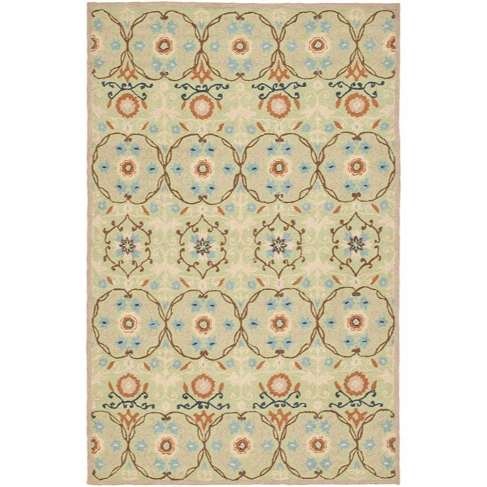 Safavieh Chelsea Sage/Ivory 5 ft. 3 in. x 8 ft. 3 in. Area Rug