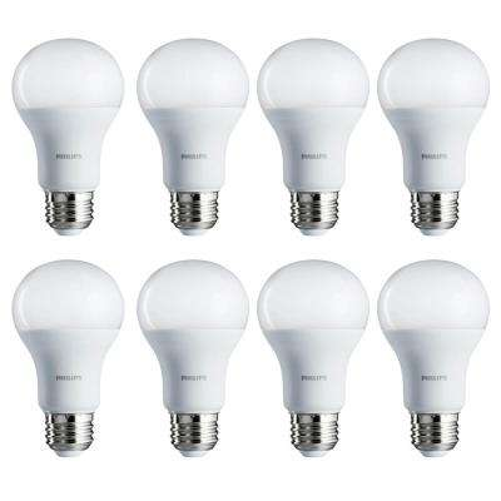 75-Watt Equivalent A19 Non-Dimmable Energy Saving LED Light Bulb Daylight (5000K) (8-Pack)
