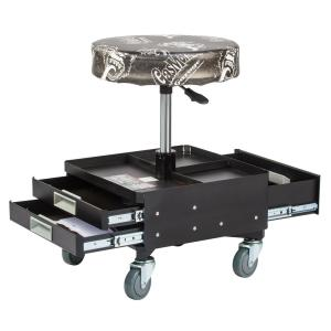 Gas Monkey Pneumatic Garage Seat with Toolbox - 3-Drawers and Tool Tray - 4... by Gas Monkey