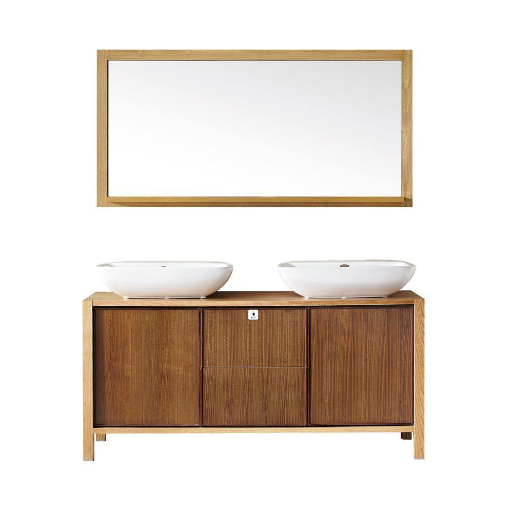 Unfinished bathroom vanity base - D Vanity In Red Oak Wood With