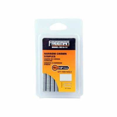 1/2 in. 18-Gauge Glue Collated Narrow Crown Staples (1000 Count)