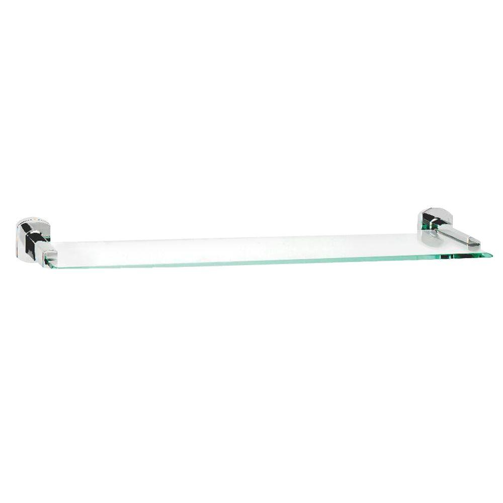 Croydex Chelsea 20 in. W Shelf in Glass and Polished Chrome