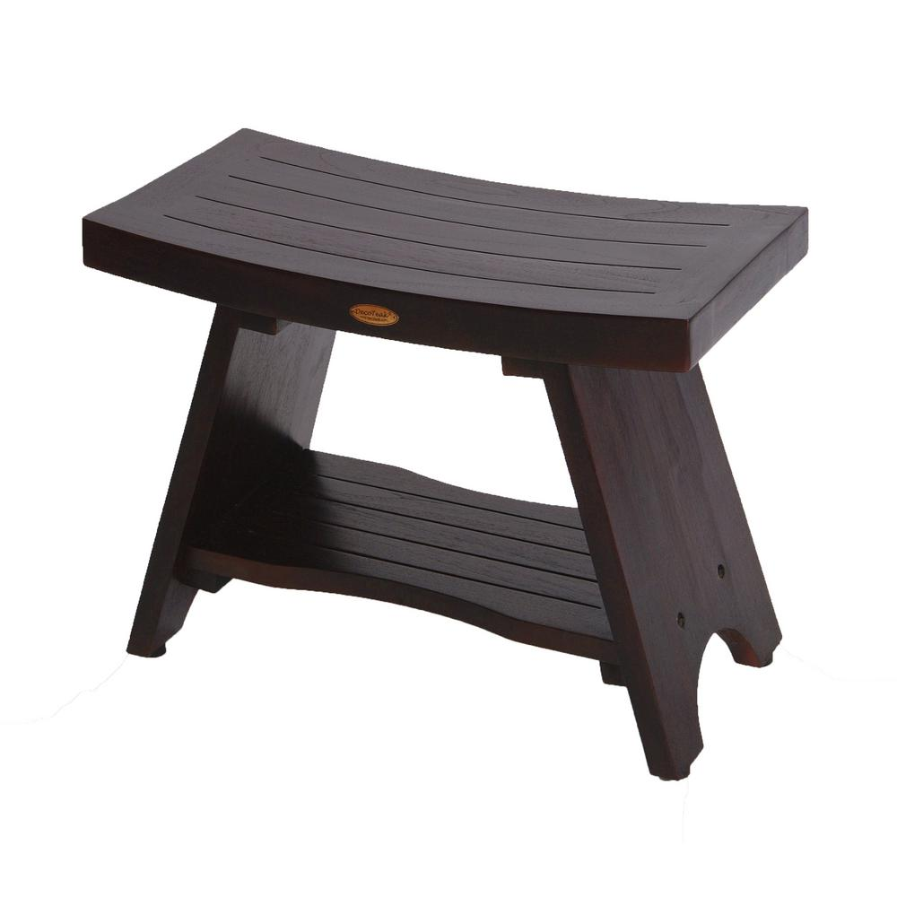 DecoTeak Serenity 30 in. Eastern Style Teak Shower Bench Stool with ...