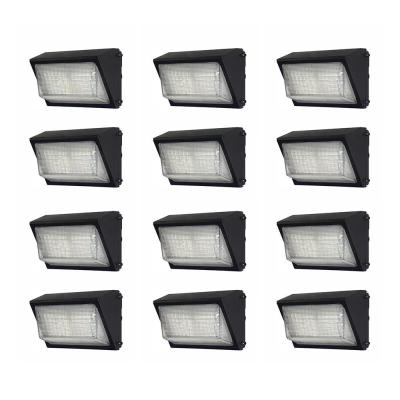 450-Watt Equivalent Integrated Outdoor LED Wall Pack, 6800 Lumens, Dusk to Dawn Outdoor Security Light (12-Pack)