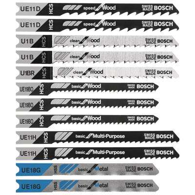 Multi-Purpose U-Shank Jig Saw Blade Assortment (12-Piece)
