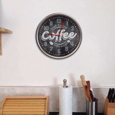 12 in. Coffee Wall Dial Wall Clock