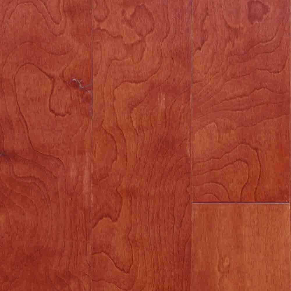 Millstead Take Home Sample Birch Bordeaux Engineered Click Hardwood Flooring 5 In. X 7 In.