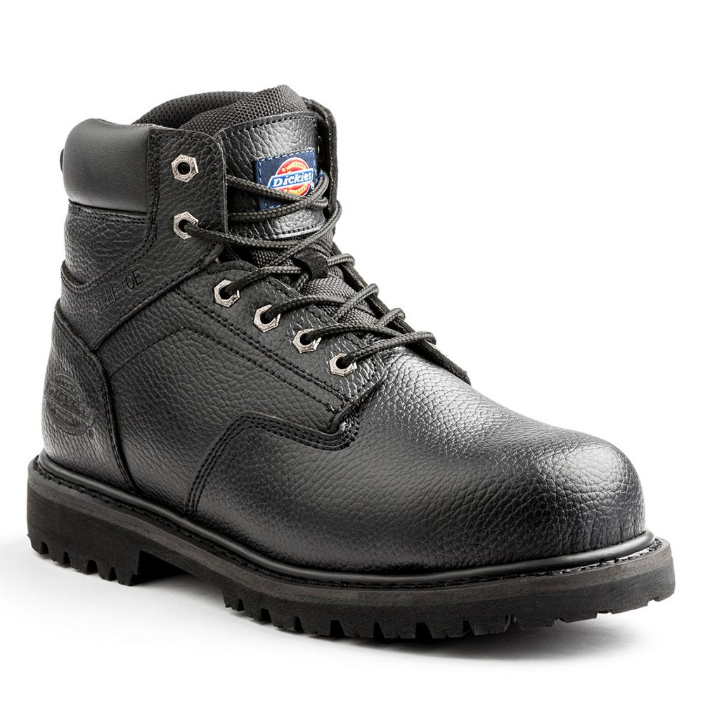 Dickies Prowler Men Size 14 Black Leather Steel Toe Work Boot
