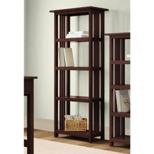 Alaterre Furniture Mission Espresso Open Bookcase by Alaterre Furniture