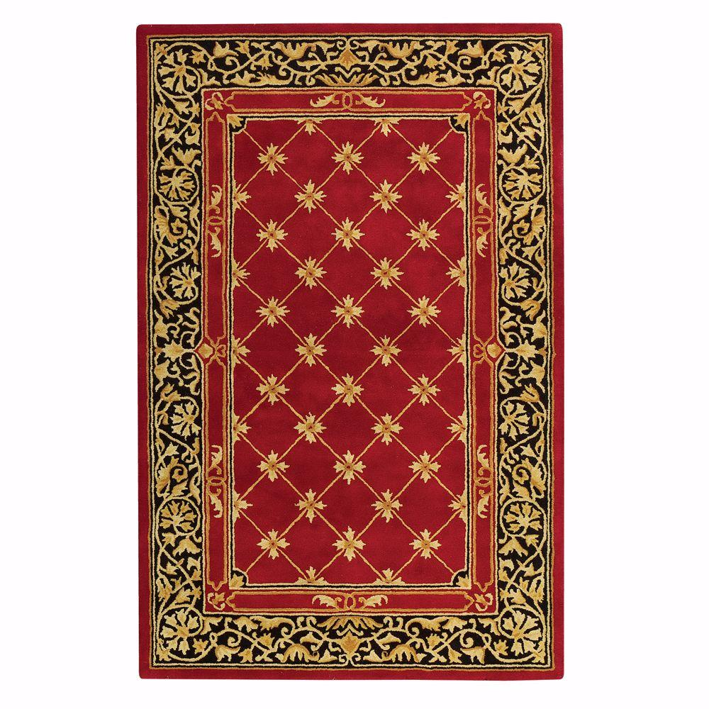 Home Decorators Collection Churchill Red with Design 8 ft. x 11 ft. Area Rug