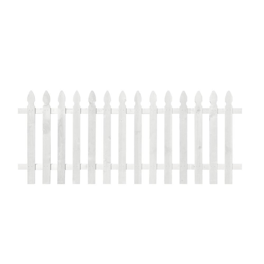 3-1/2 ft. x 8 ft. Cedar Spaced French Gothic Primed Fence