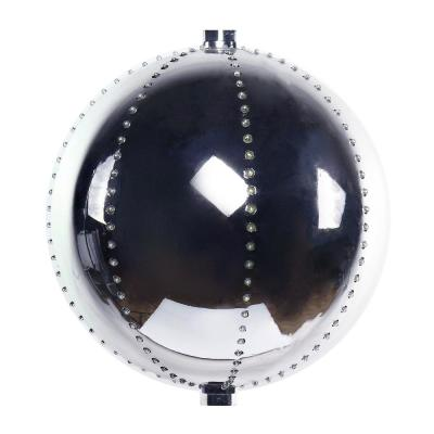 13 in. Tall Multi-Color LED Lights Alpine Hanging Christmas Ball Ornament, Silver