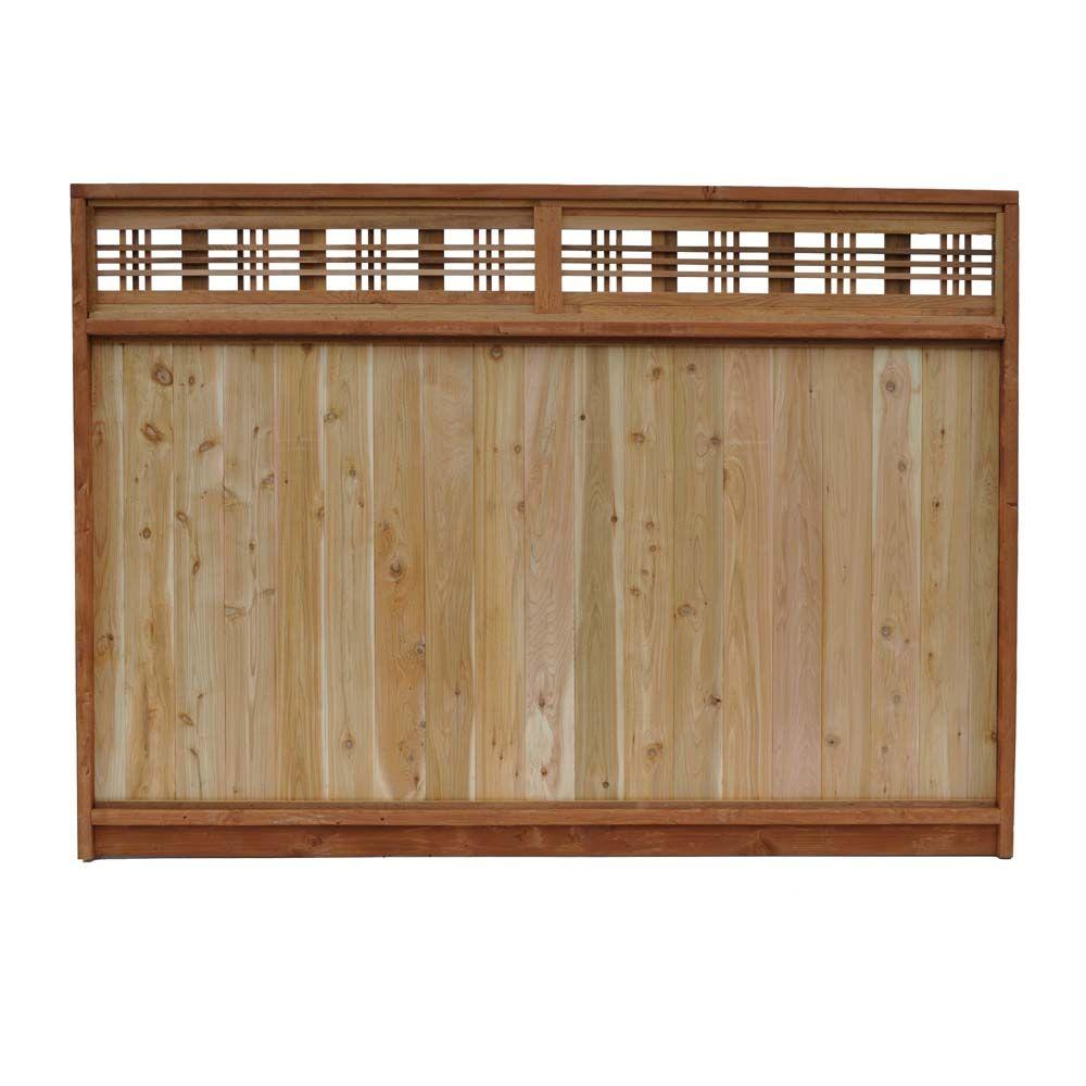 Signature Development 6 Ft H X 8 Ft W Western Red Cedar