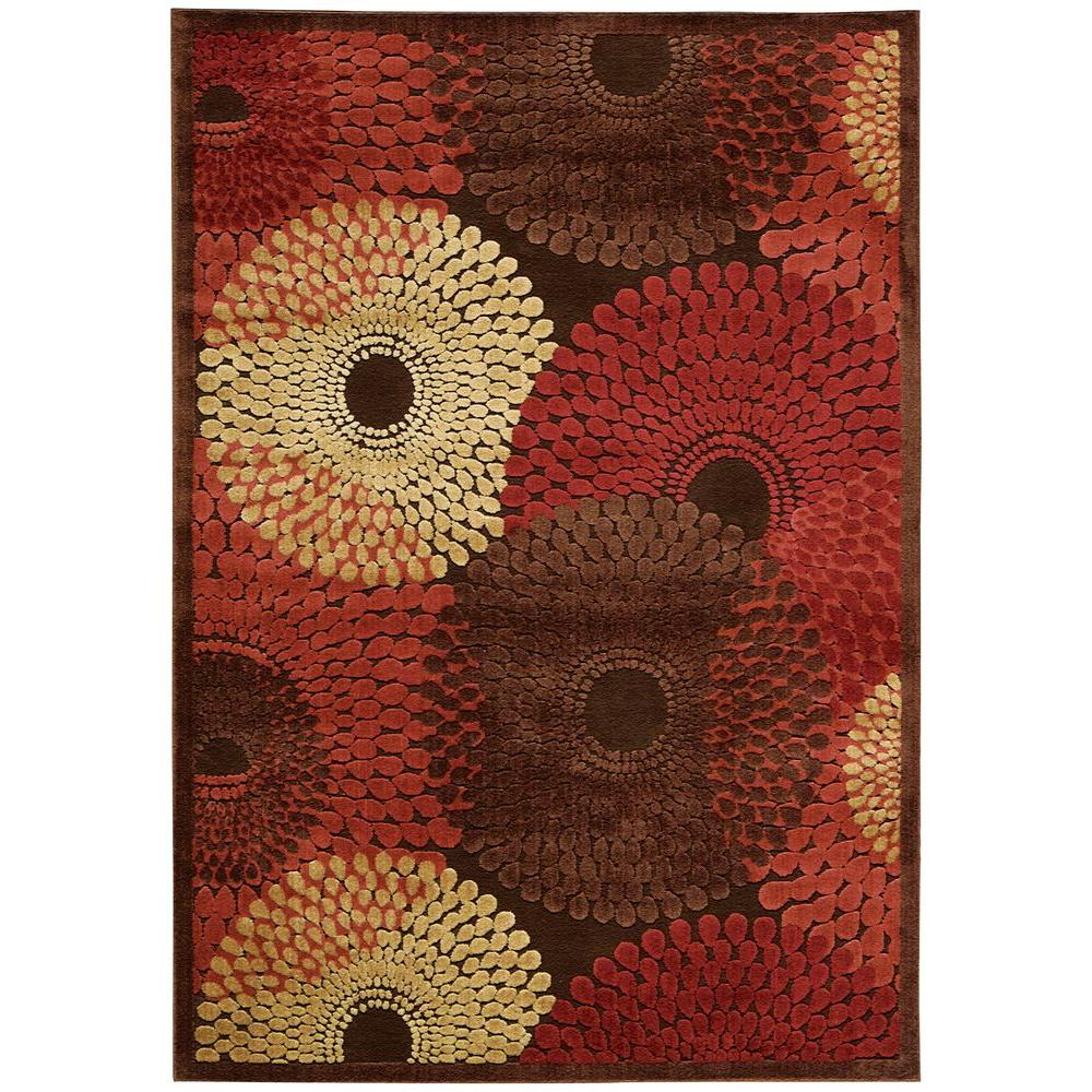 Nourison Graphic Illusions Brown 5 ft. x 7 ft. Area Rug