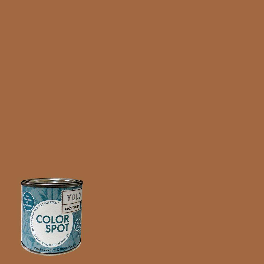 YOLO Colorhouse 8 oz. Clay .03 ColorSpot Eggshell Interior Paint Sample-DISCONTINUED