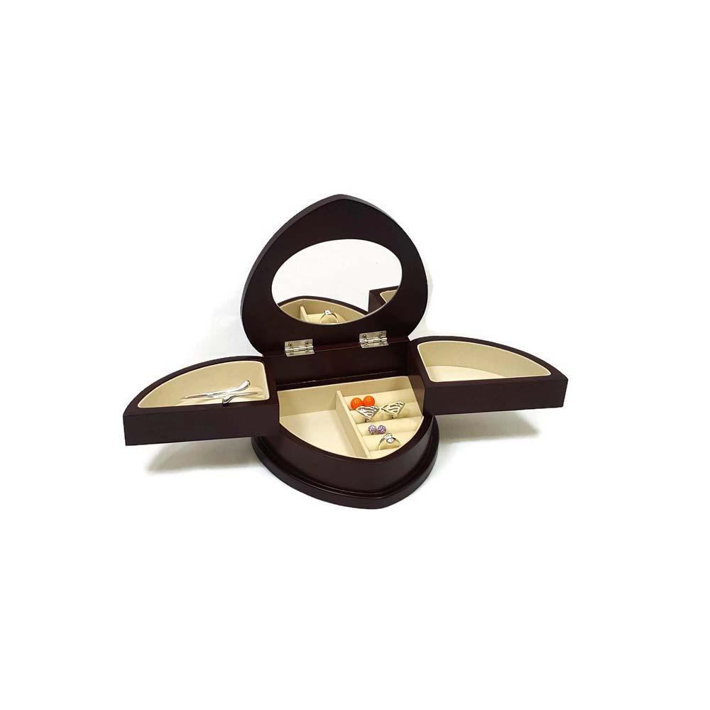 Heart Shaped Wood Jewelry Box