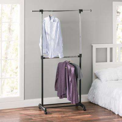 Black Steel Clothes Rack (17 in. W x 51 in. H)