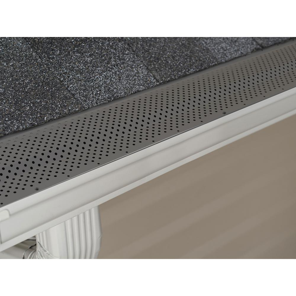 Amerimax Home Products Titan 5 In X 3 Ft Aluminum K Style Gutter Guard 85520s The Home Depot