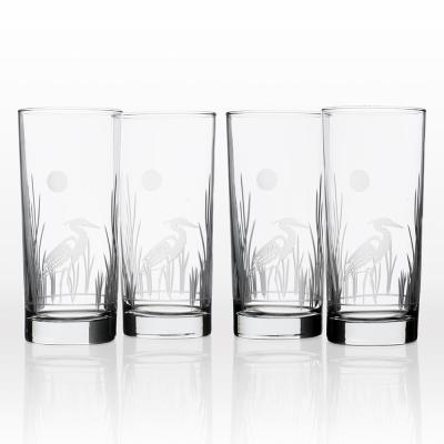 Heron 15 oz. Cooler Highball Glass (Set of 4)