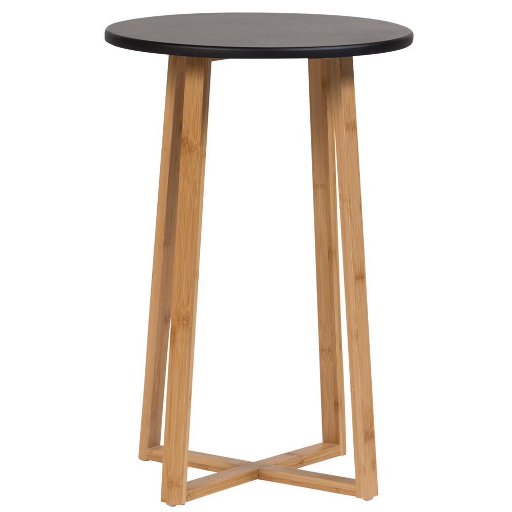 Black Tall Display Table