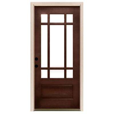 white craftsman front door. craftsman 9 lite stained mahogany wood prehung front door white o