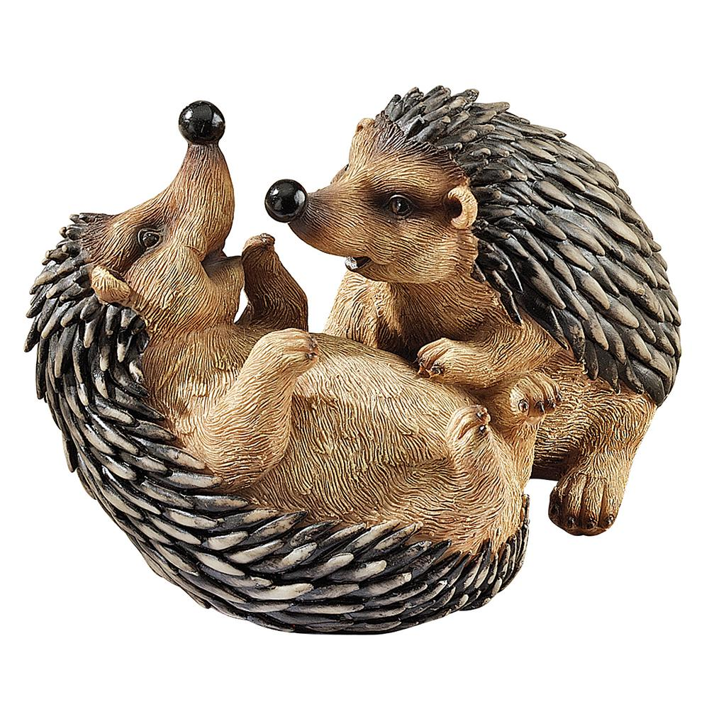 5.5 in. H Hyper Hedgehogs Garden Statue