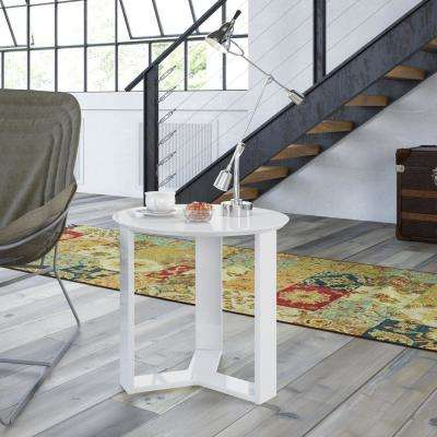 Madison 2.0 White Gloss End Table