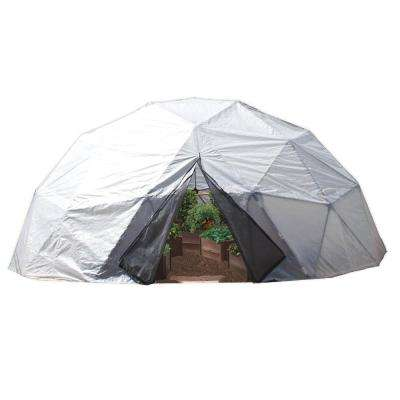Geodesic 16 ft. x 9.5 ft. 202 sq. ft. Polycarbonate Greenhouse