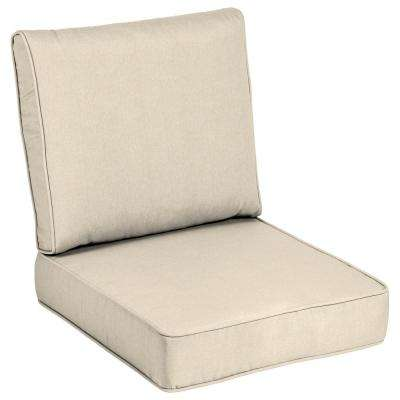 24 x 24 Outdoor Lounge Chair Cushion in Sunbrella Canvas Flax