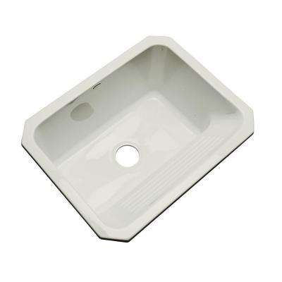 Kensington Undermount Acrylic 25 in. Single Bowl Utility Sink in Tender Gray