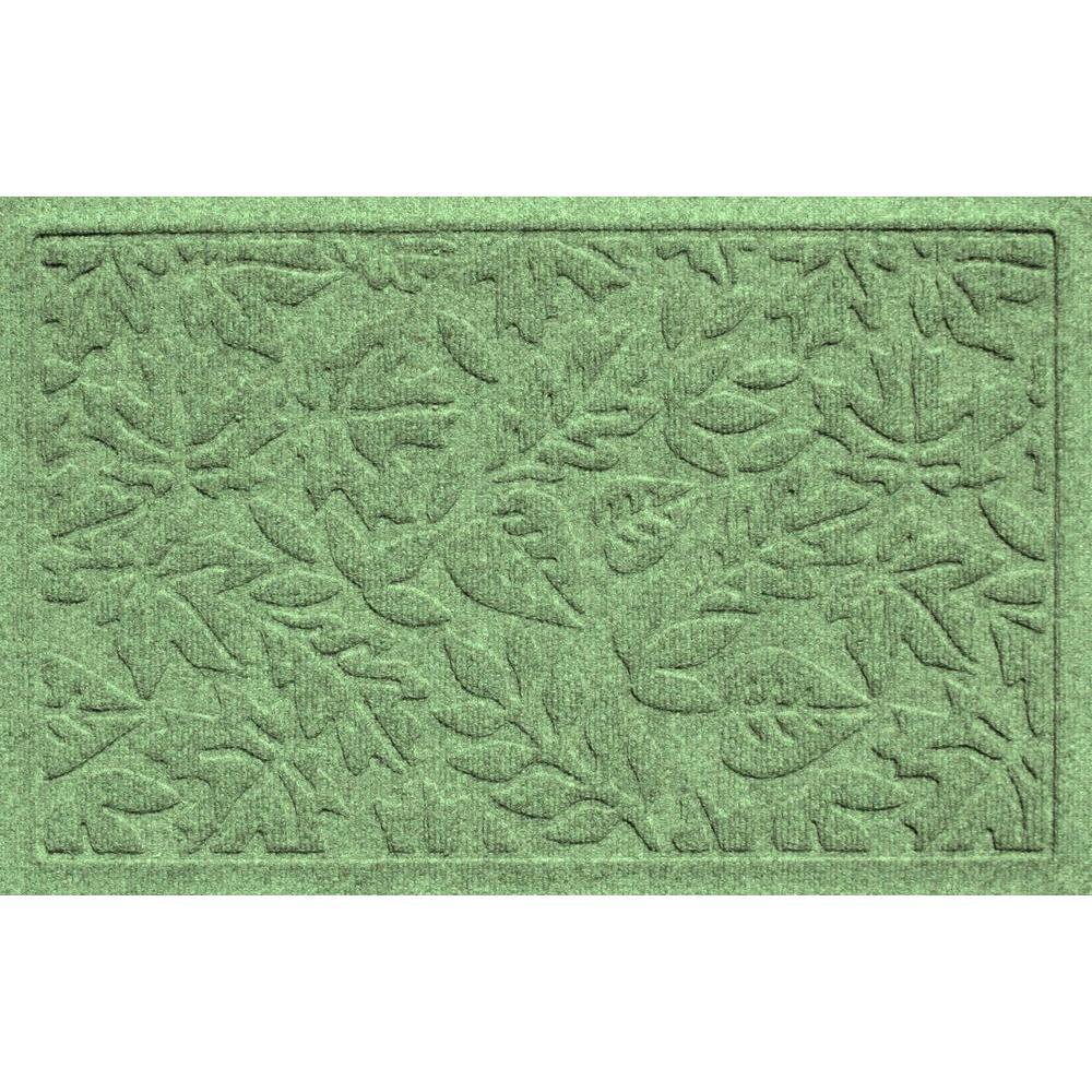 Aqua Shield Fall Day Light Green 17.5 in. x 26.5 in. Door Mat