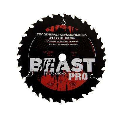7-1/4 in. 24-Teeth Carbide-Tipped Circular Saw Blade