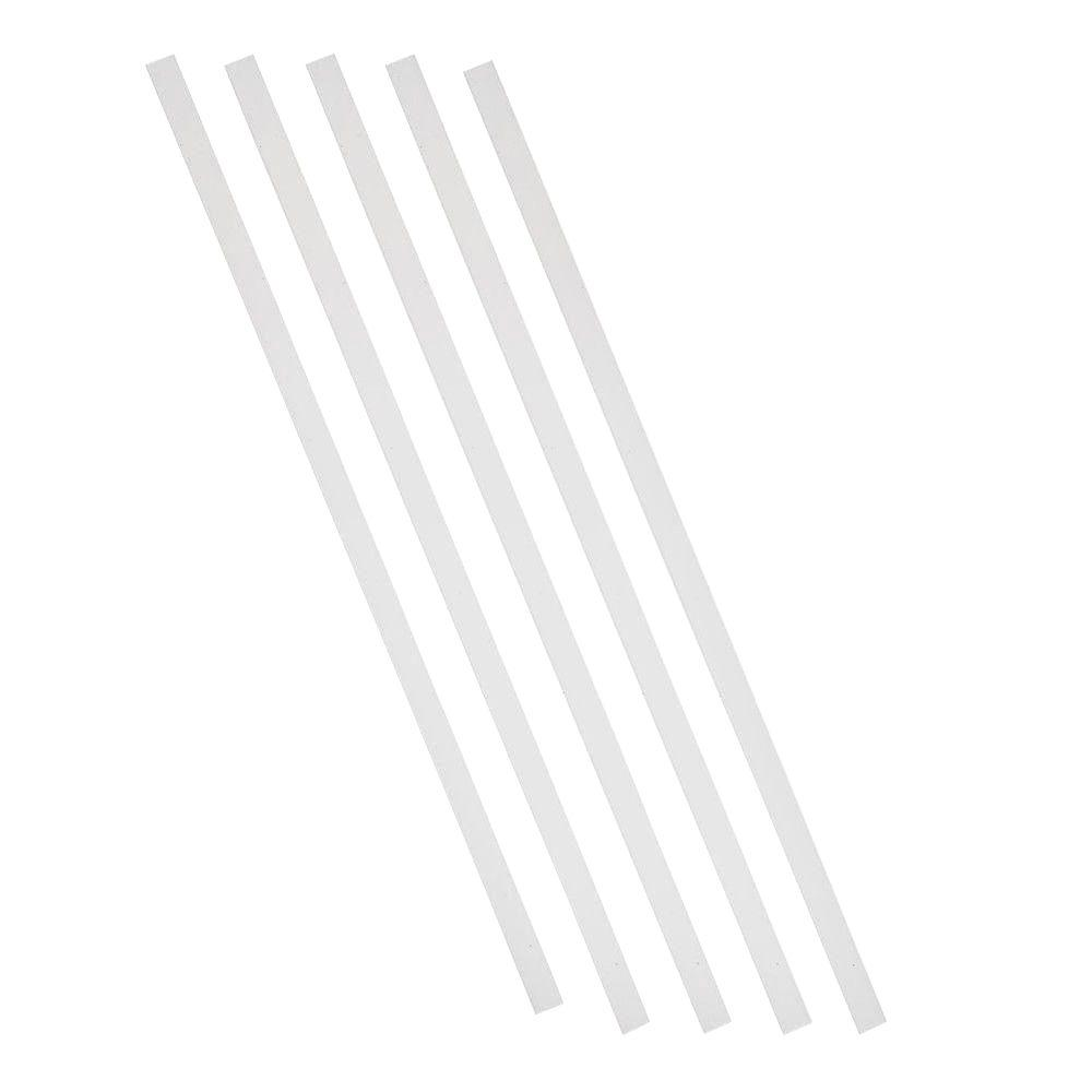 Pegatha 26 in. x 3/4 in. White Aluminum Square Deck Railing Baluster (5-Pack)
