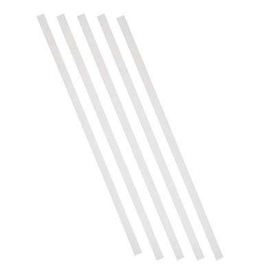 26 in. x 3/4 in. White Aluminum Square Deck Railing Baluster (5-Pack)