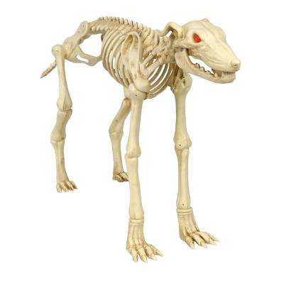 3 ft. Animated Skeleton Greyhound with LED Illuminated Eyes