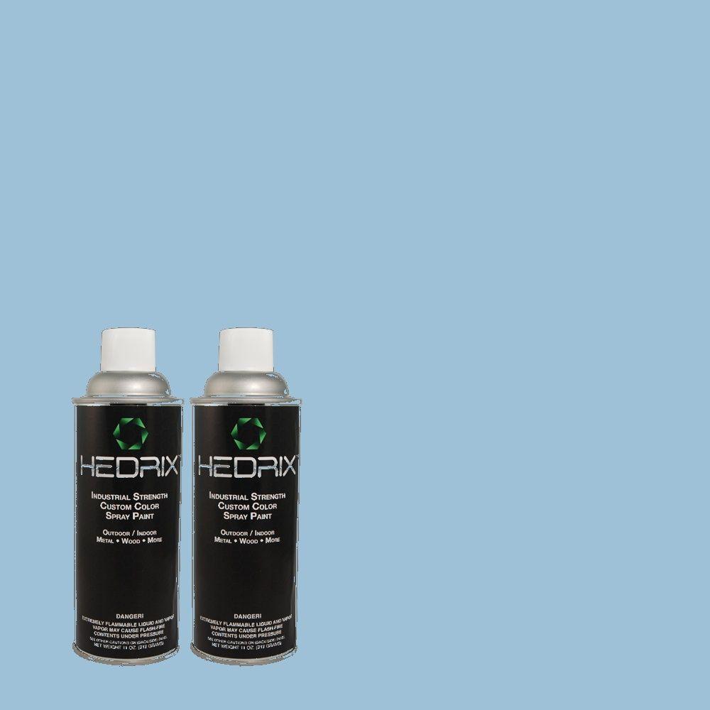 Hedrix 11 oz. Match of 1A39-3 Flyaway Blue Flat Custom Spray Paint (2-Pack)