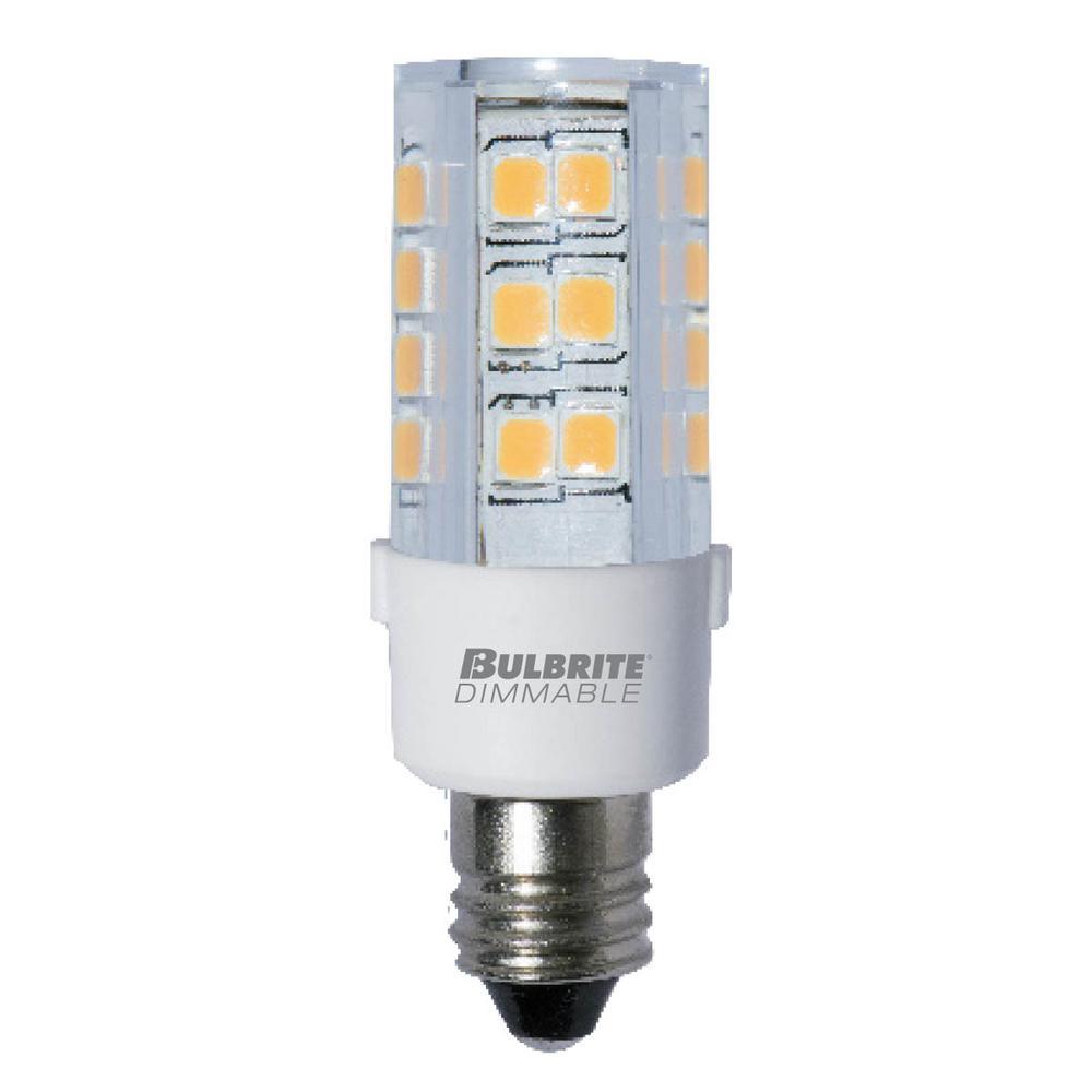 35-Watt Equivalent T4 Dimmable Mini-Candelabra LED Light Bulb Warm White Light (2-Pack)