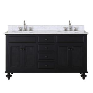 Water Creation London 60 inch Vanity in Dark Espresso with Marble Vanity Top in Carrara... by Water Creation