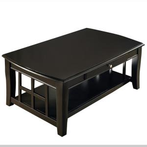 Cassidy Ebony Transitional Cocktail Table by
