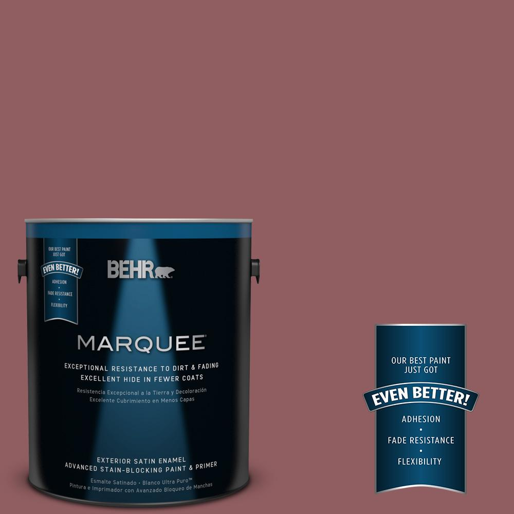 BEHR MARQUEE 1-gal. #S130-6 Spiced Potpourri Satin Enamel Exterior Paint