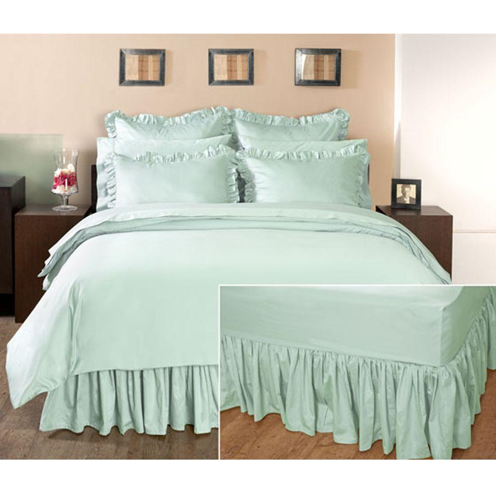 Home Decorators Collection Ruffled Watery Full Bedskirt